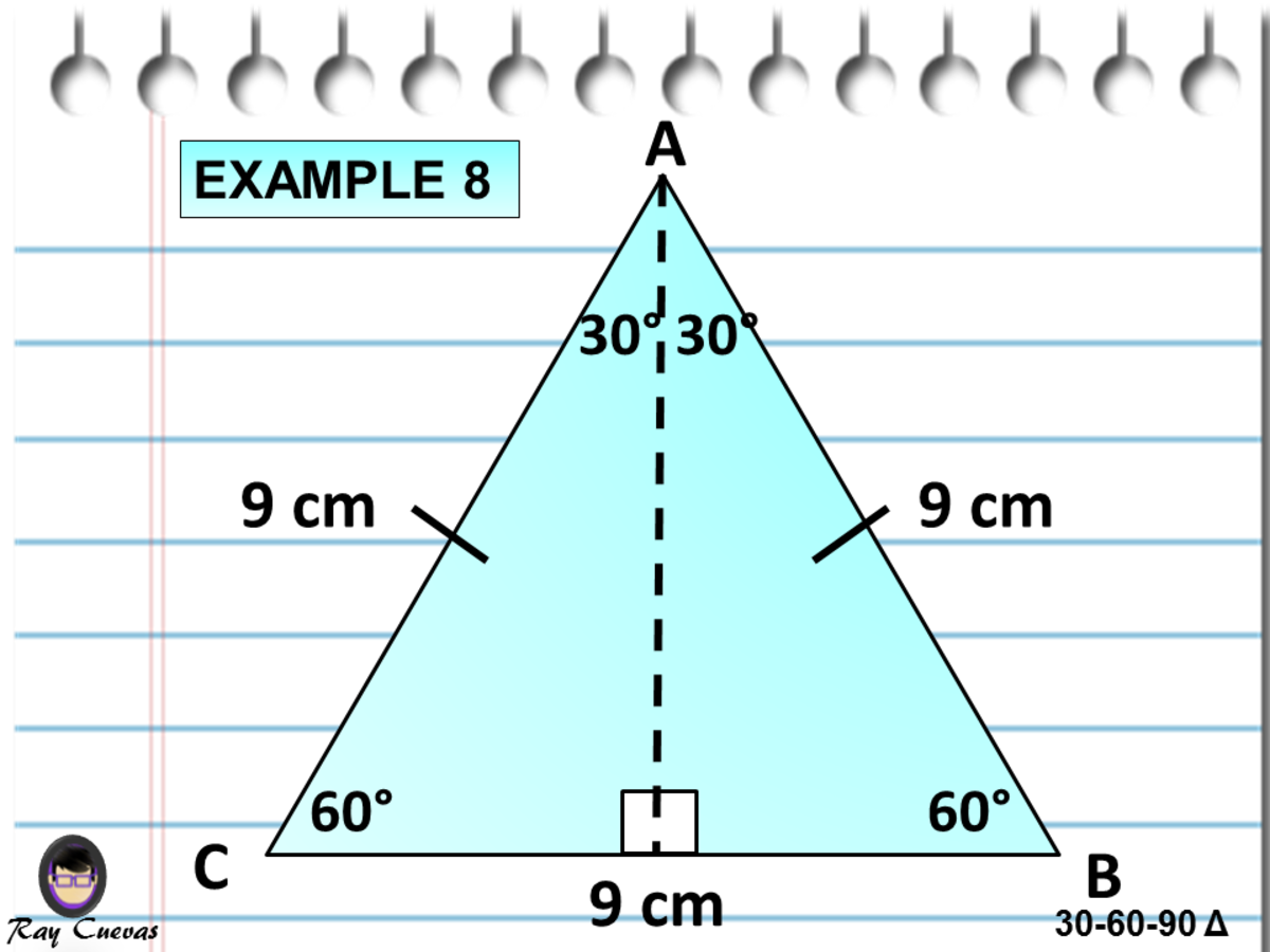 Finding the Altitude of an Equilateral Triangle Using the 30-60-90 Triangle Theorem
