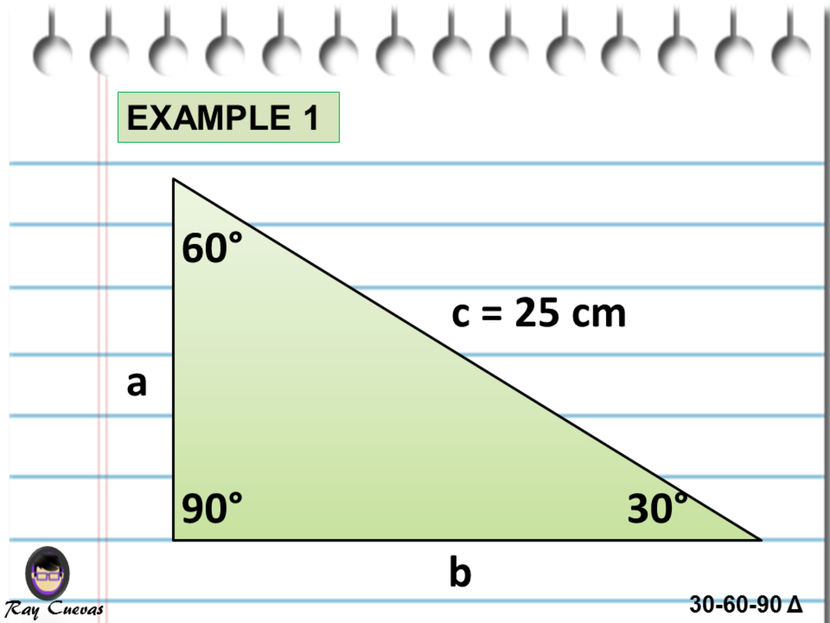 Finding the Measure of the Missing Sides in the 30-60-90 Triangle Given the Hypotenuse