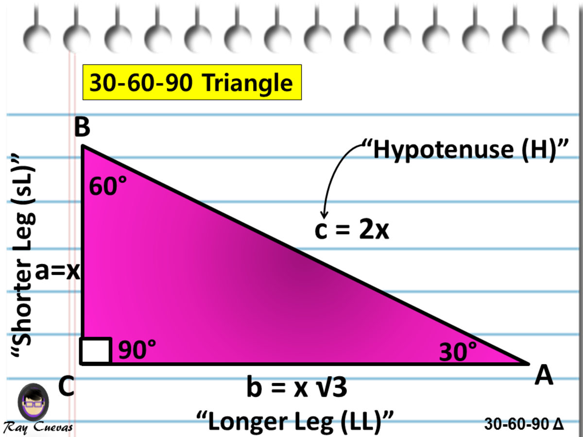 30-60-90 Triangle Diagram