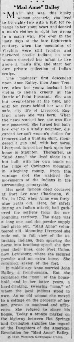 Anne Bailey Obituary