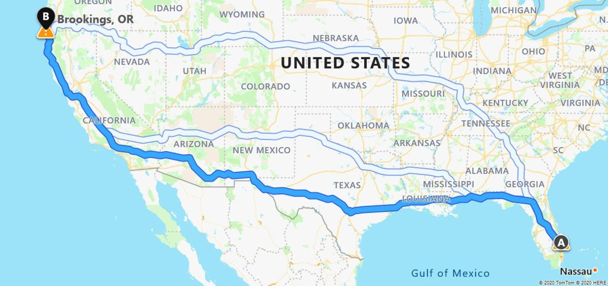 My Solo Road Trip From Florida to Oregon, 3382 Miles