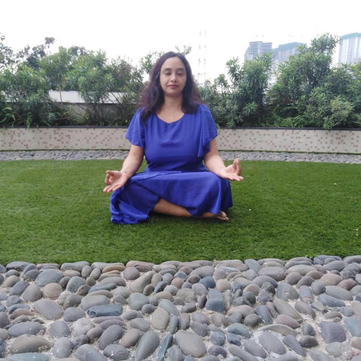 Meditation in Sukhasana with Gyan Mudra
