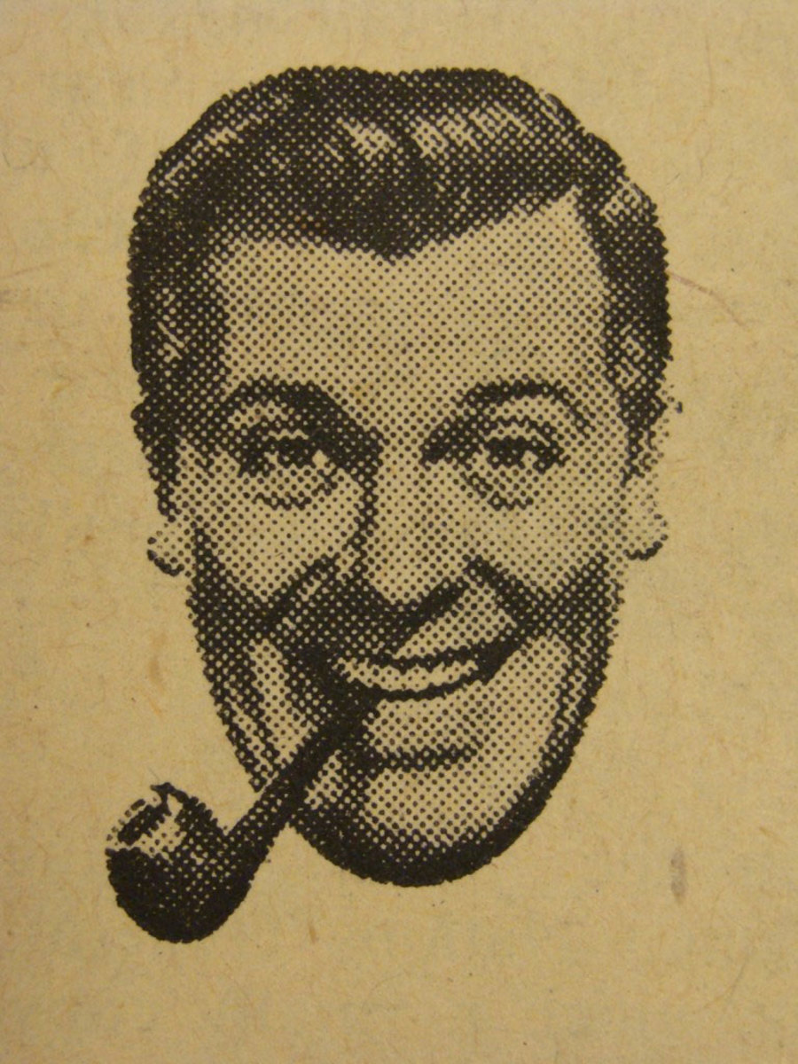 "The image of J.R. ""Bob"" Dobbs taken from 1950s clip art."