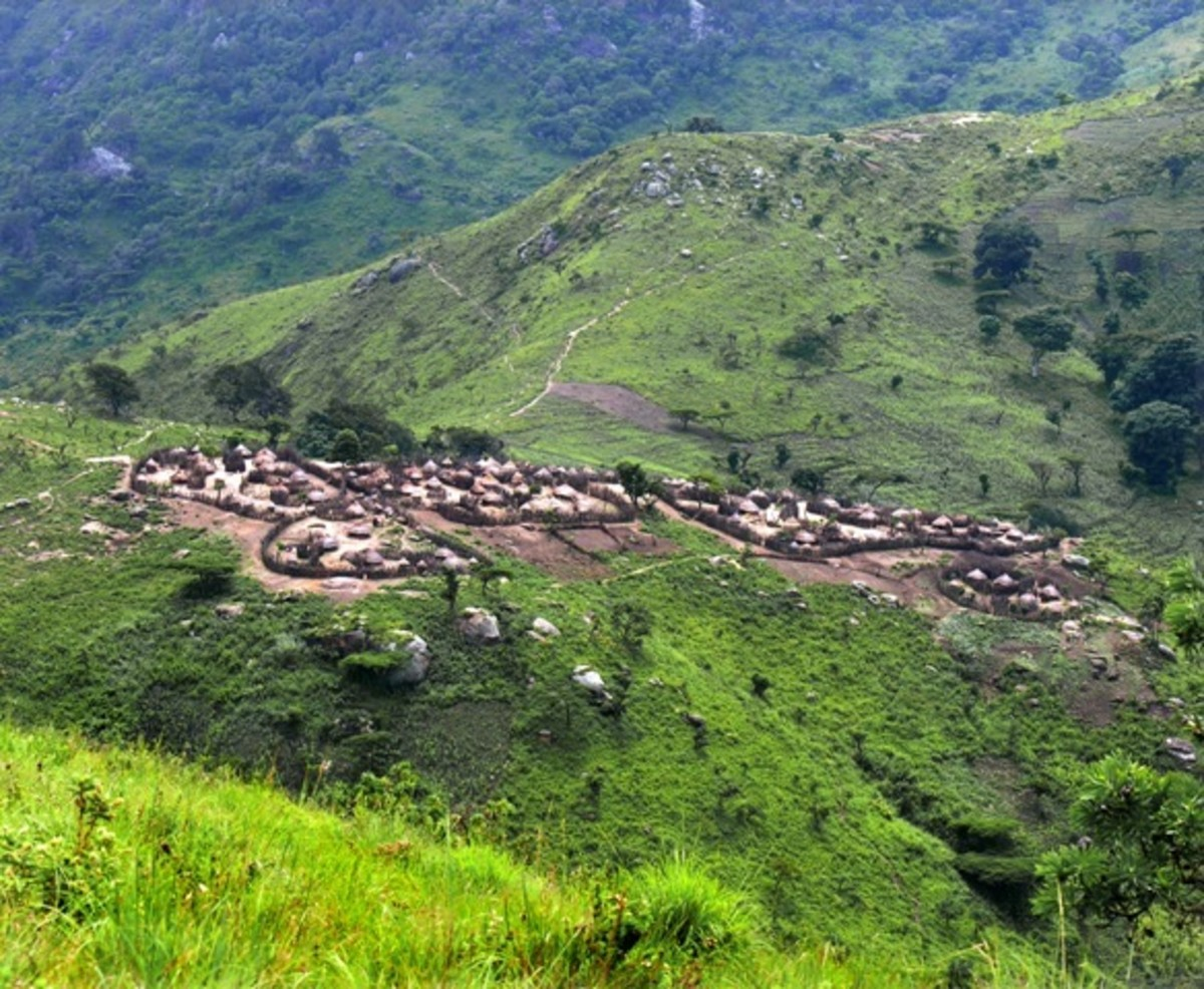 An Ik village.