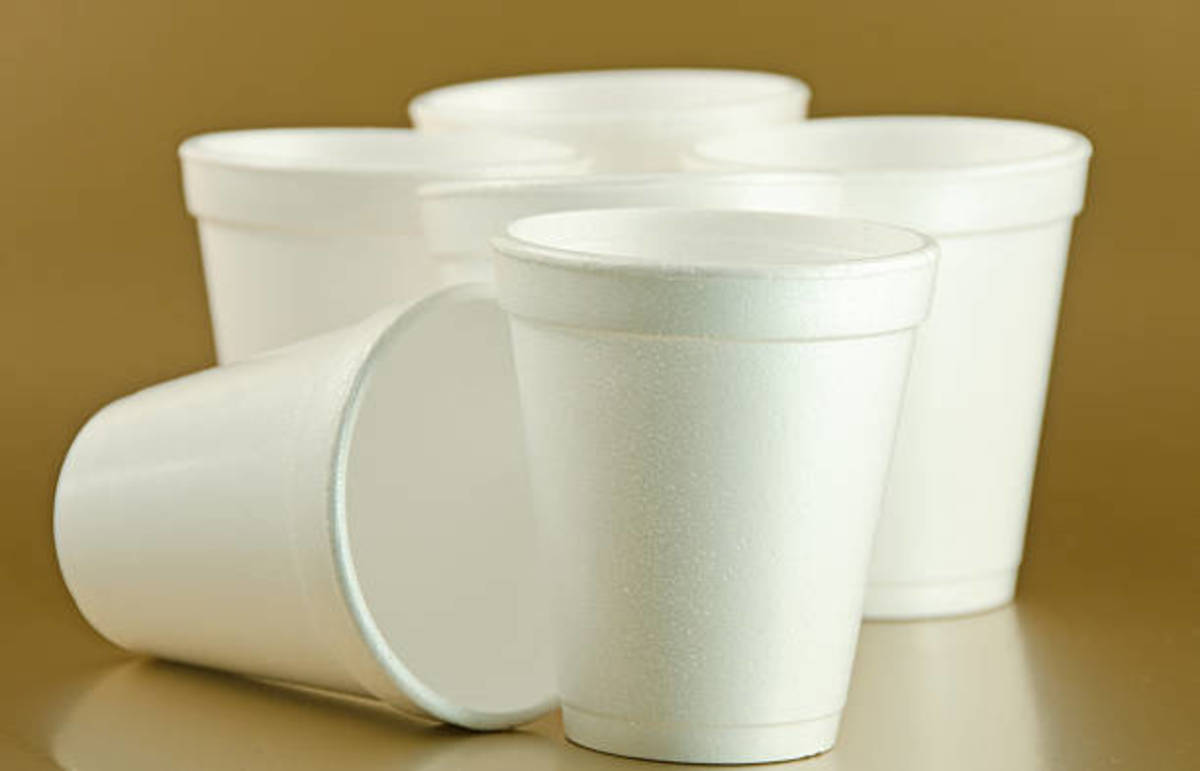 Yes, here is the lovable Styrofoam cups and see how deceptive they are?