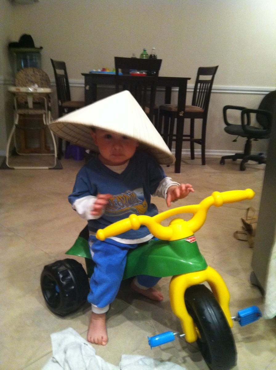 Mom's gardening hat.