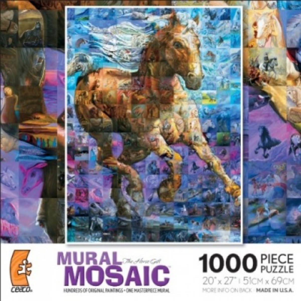 The Mural has now been produced into a puzzle and worth spotlighting because it's beautiful, unusual, fun and challenging.  And I can say, I'm glad I was part of this Mosaic Mural.