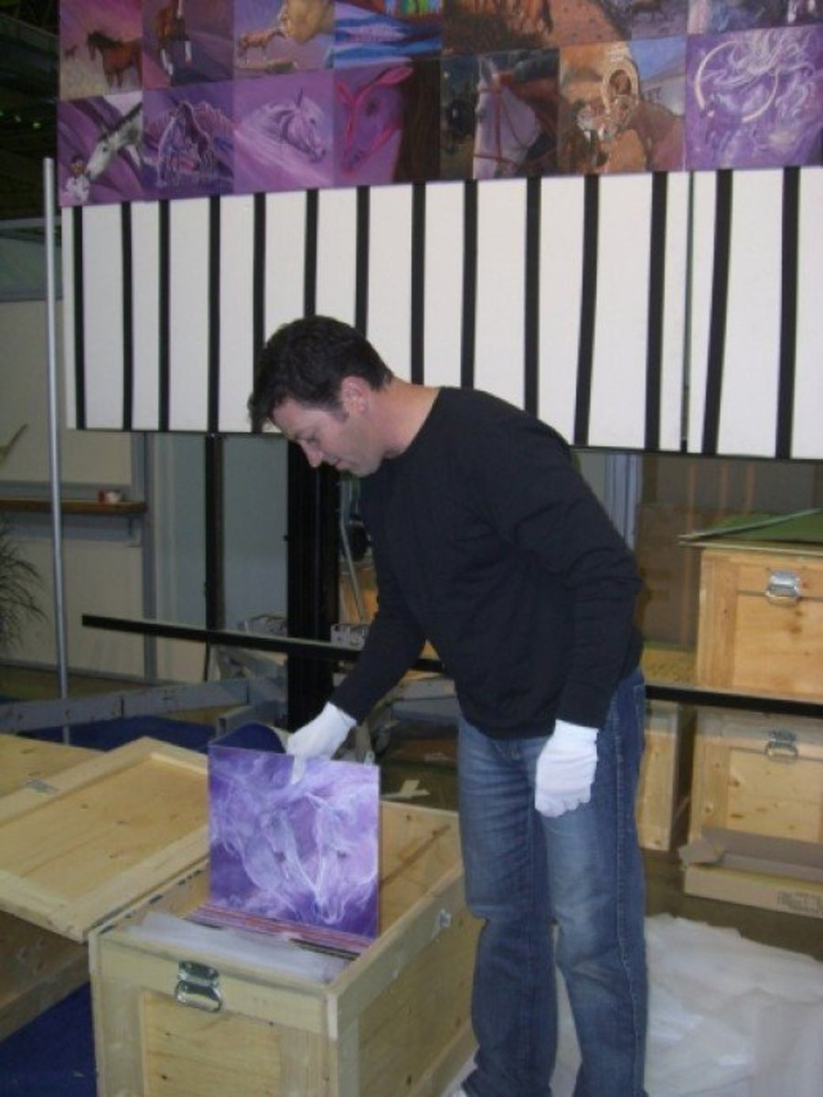 Phil packing my panel #182