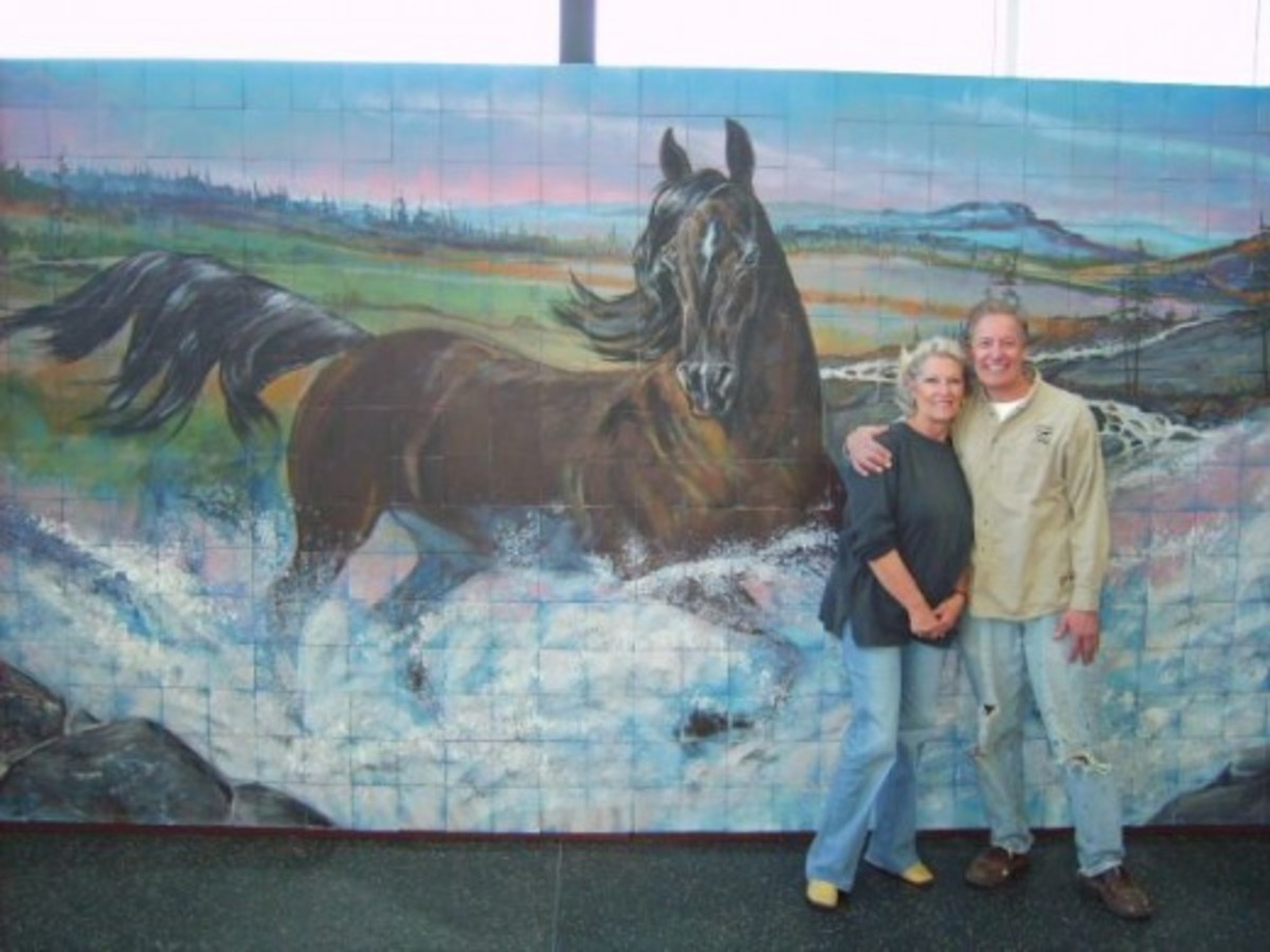 Fund Raiser Mural for Madison Mounted Police Patrol