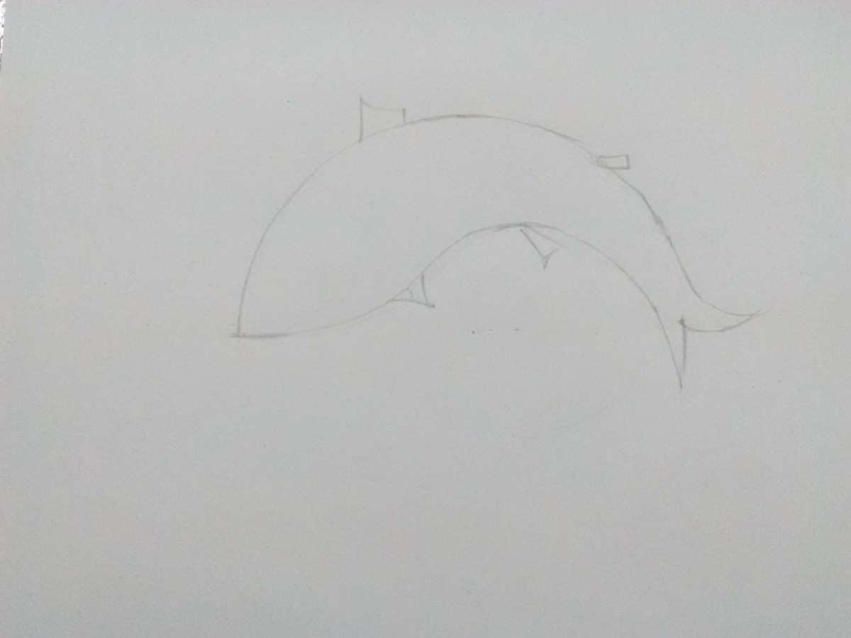 Step 6: Add fins to the body.