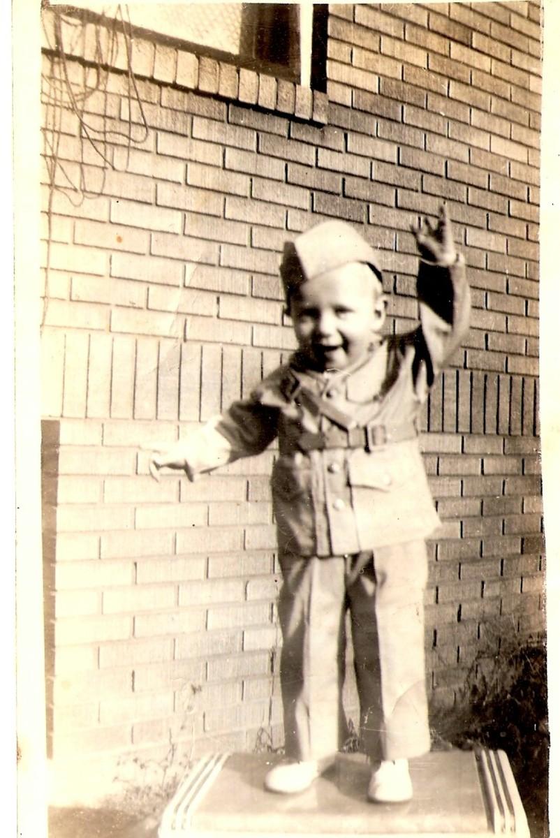 Dad's little soldier boy