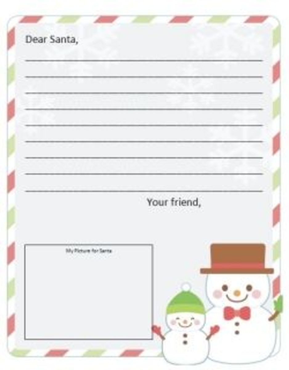 Get A Free Dear Santa Letter Template  Hubpages