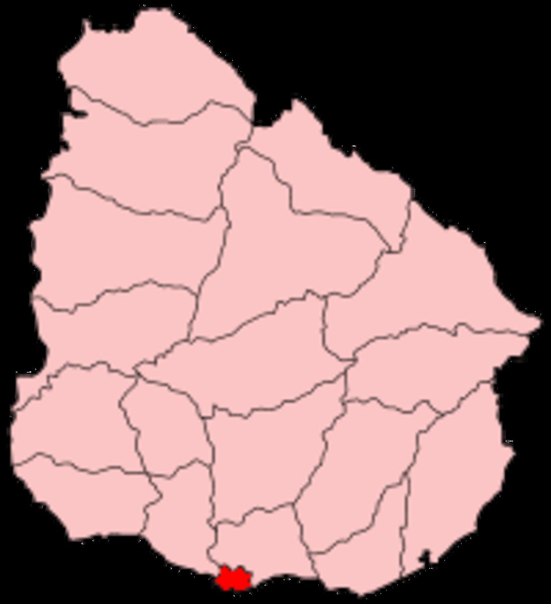 Map location of Montevideo, Uruguay :