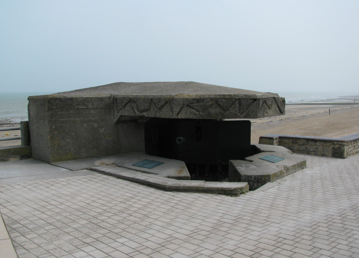 German Fortifications above the Beach
