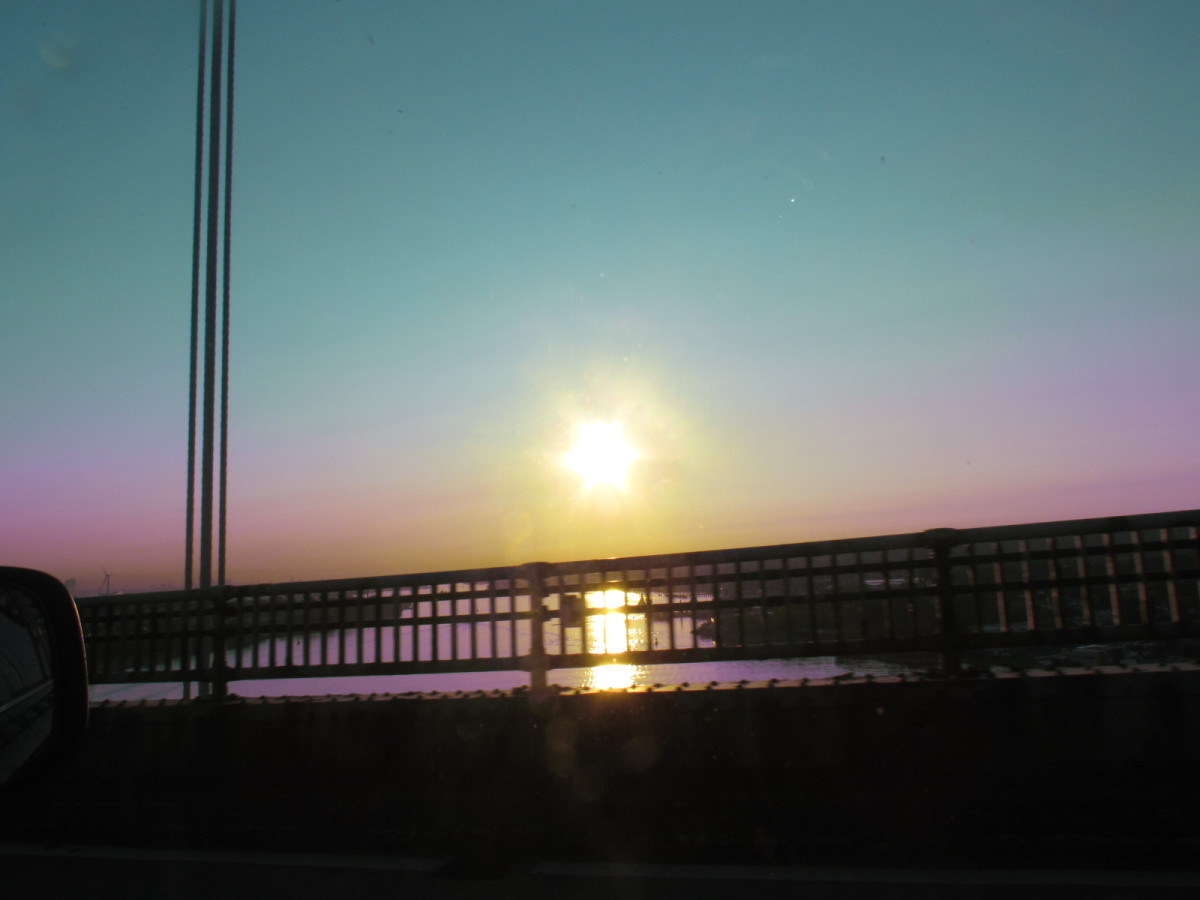 The sunrise was beautiful on our way to New York to see The View television show.