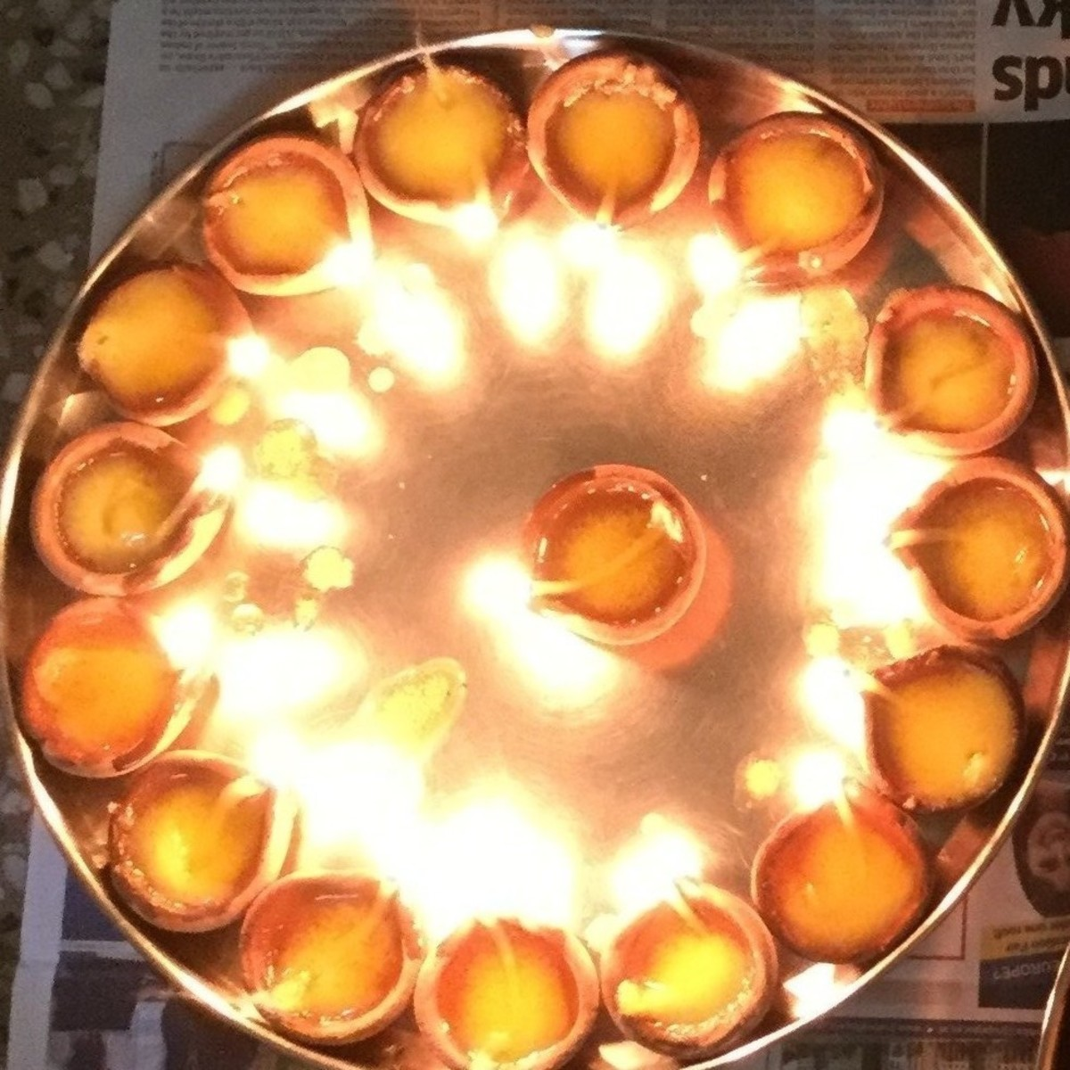 Earthen lamps ( Diwali ke Diye)