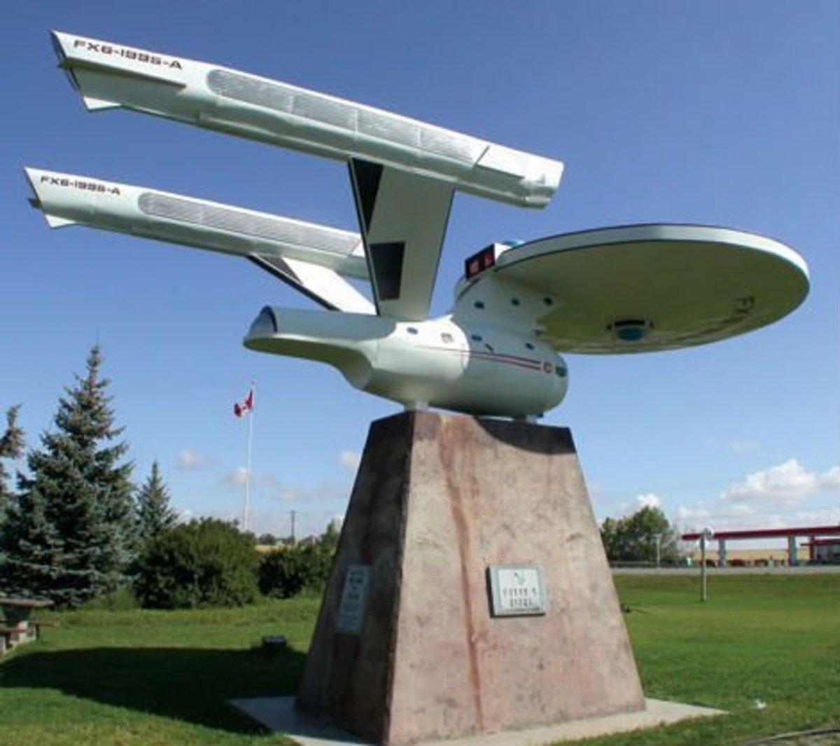 Model of the Starship Enterprise, Vulcan, Alberta