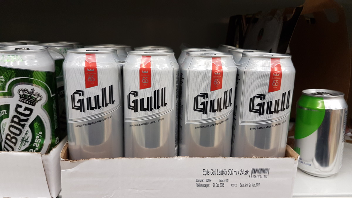 This might look like beer, but it's not. To get real beer, you need to find the state-run alcohol shops called Vinbudin.