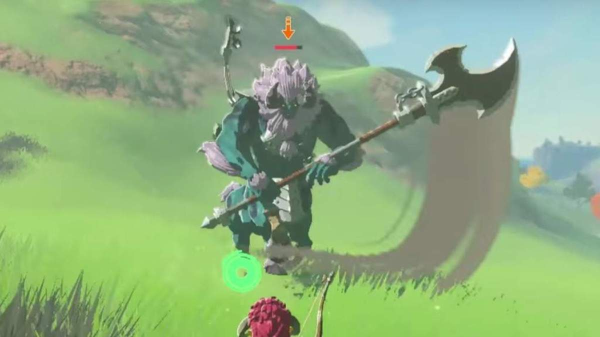 Challenging a Lynel right after you complete the tutorial might not be a great idea.