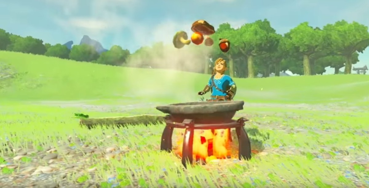 "Link becomes a chef in ""BotW."""