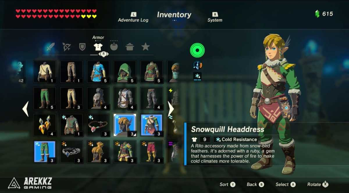 The Snowquill outfit protects you from taking cold damage.