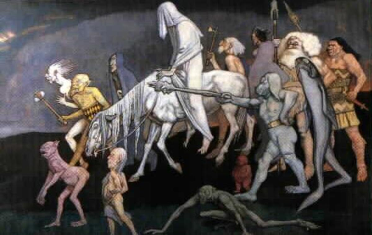 The Fomorians, as depicted by John Duncan (1912)