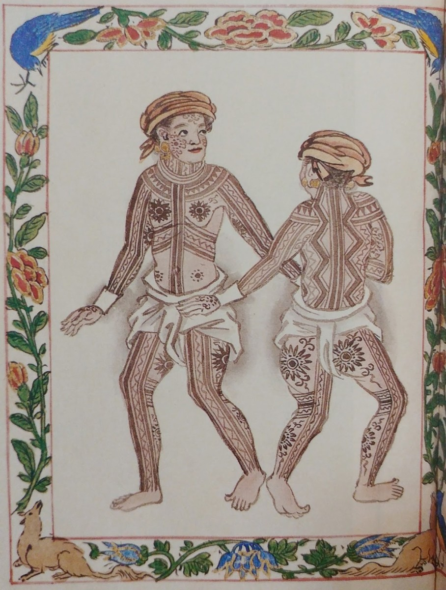 Visayan Pintados, shown in the Boxer's Codex. Photo from The Visual Traveler.