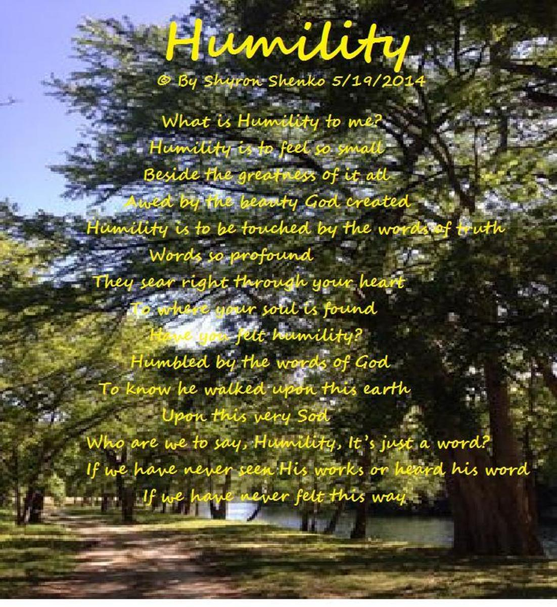Humility - The 17th Word-in the Good Words Project (Poem)