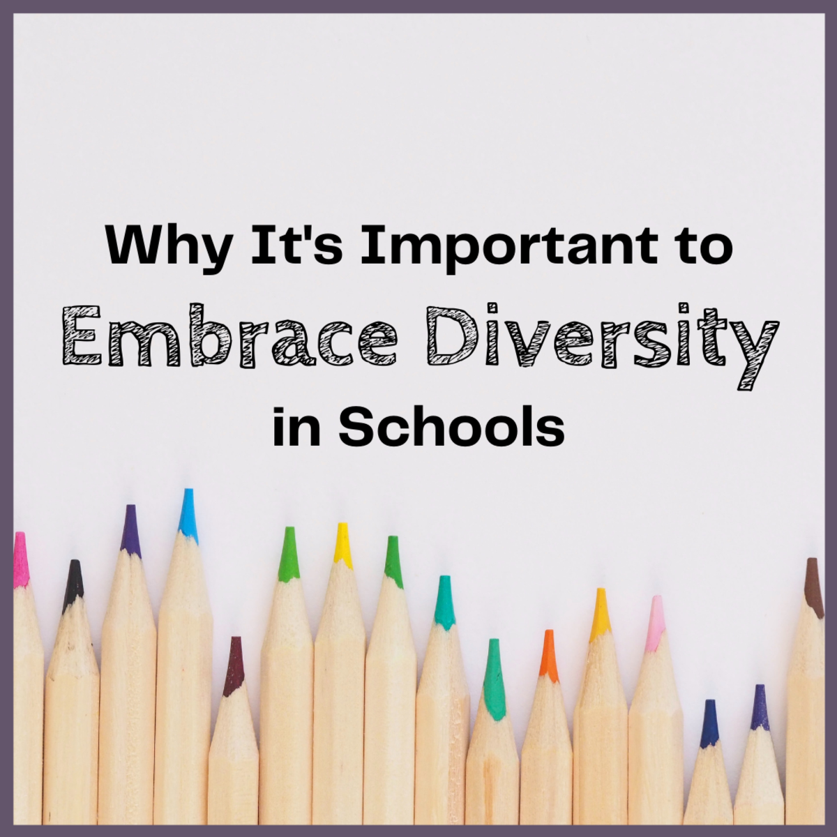 Diversity is our strength, and it's particularly important in the school system.