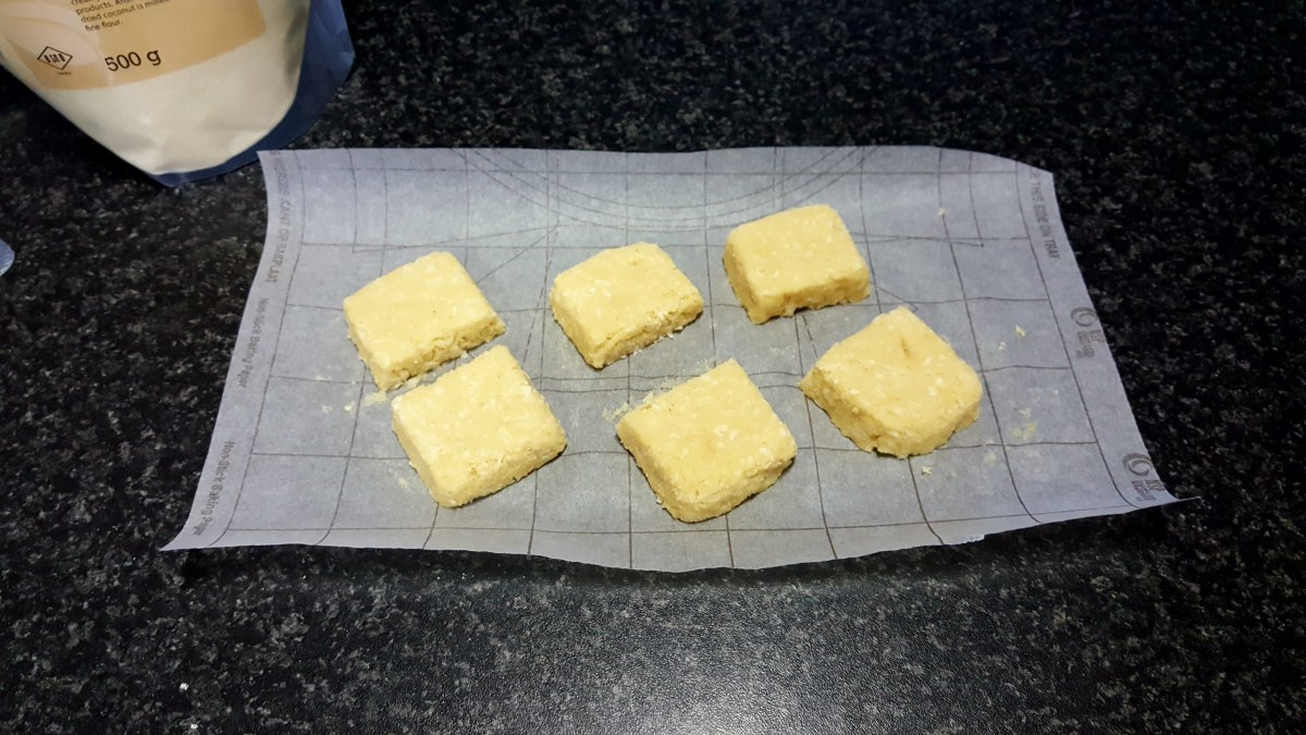The bars were then cut in half to make them more bite-sized.