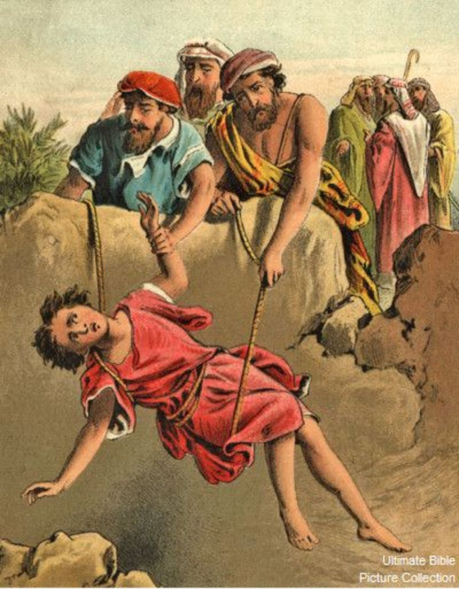 Joseph put in pit by his brothers