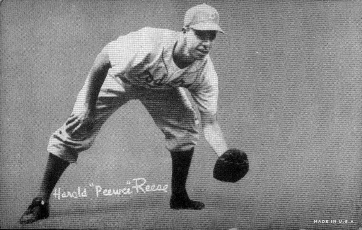 Pee Wee Reese helped the Dodgers reach the World Series seven times during his Hall of Fame career.