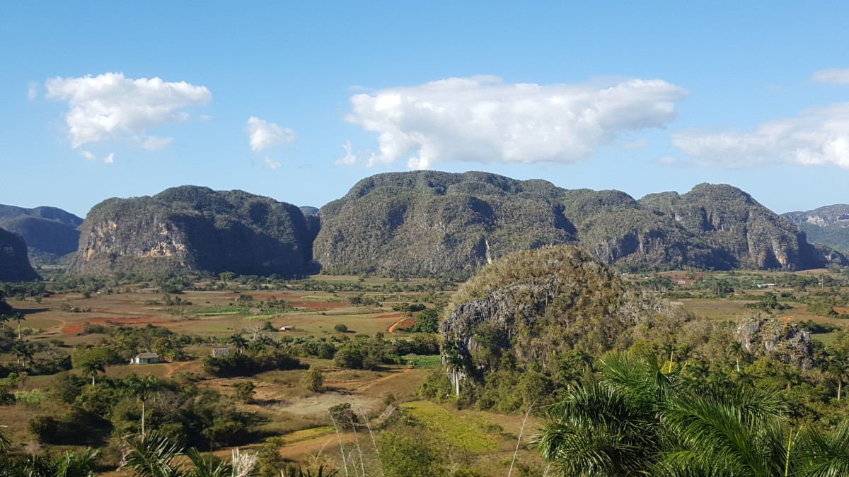 The Viñales Valley, a signature geological formation in the westernmost province of Cuba, Pinar del Rio.