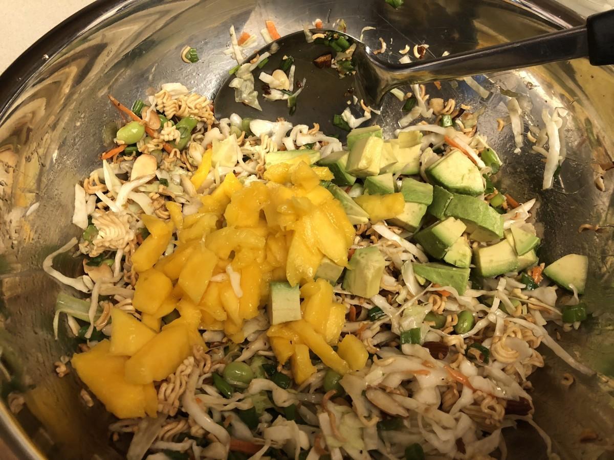 Add mango and avocado