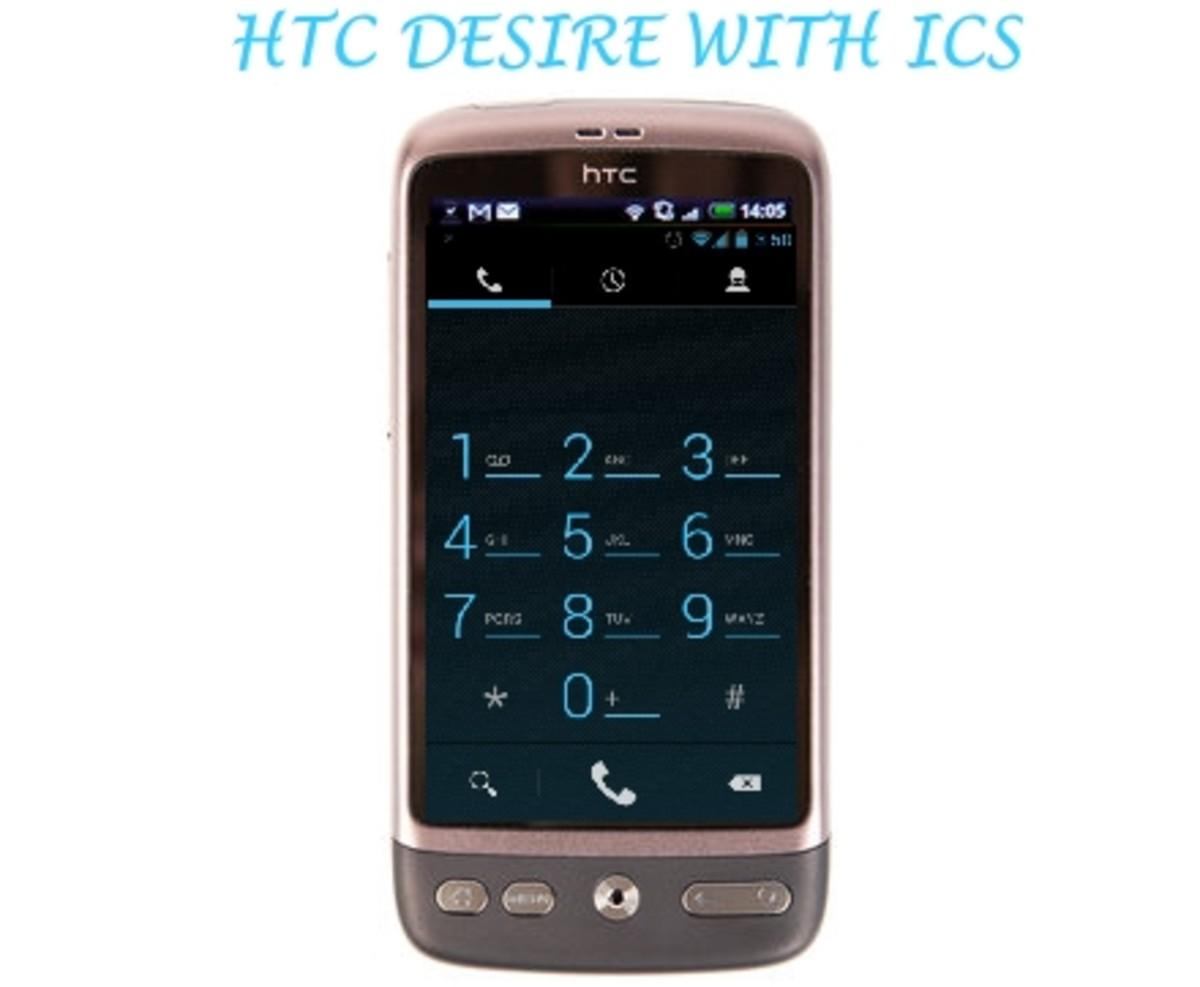 HTC DESIRE WITH ICS