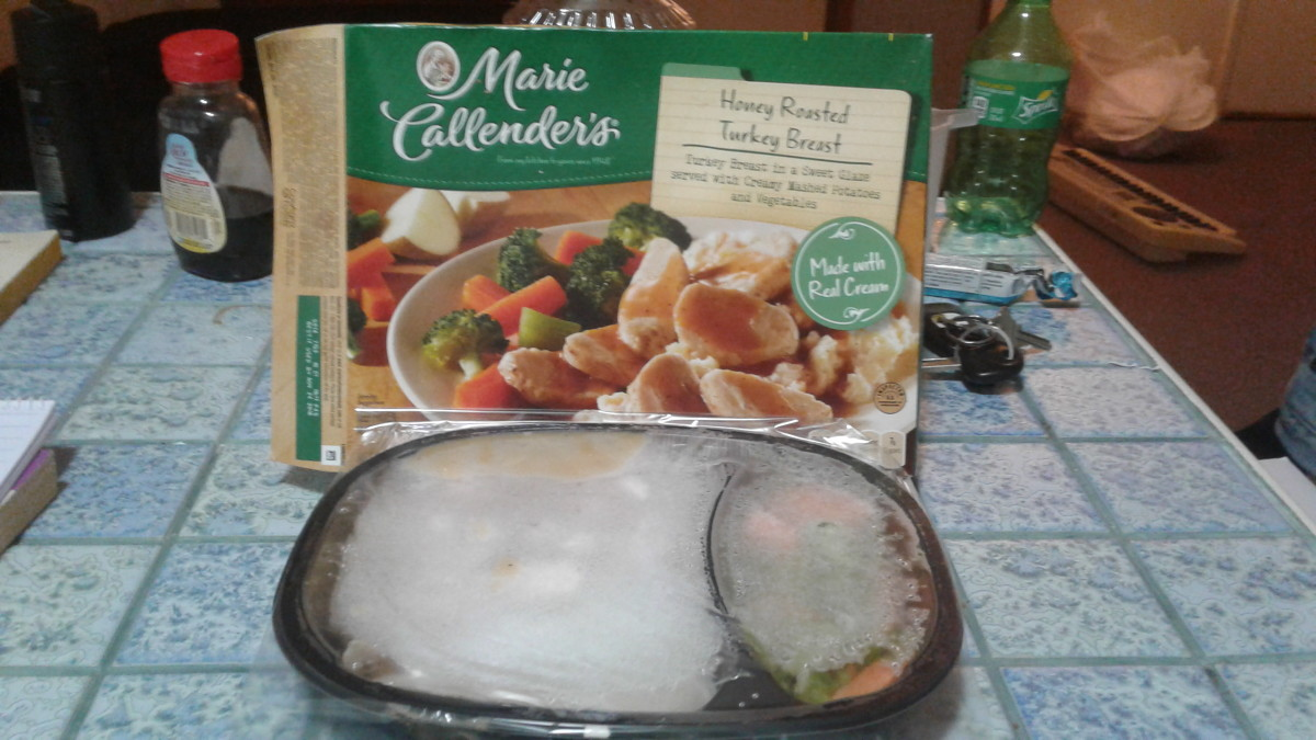 the box and the frozen meal