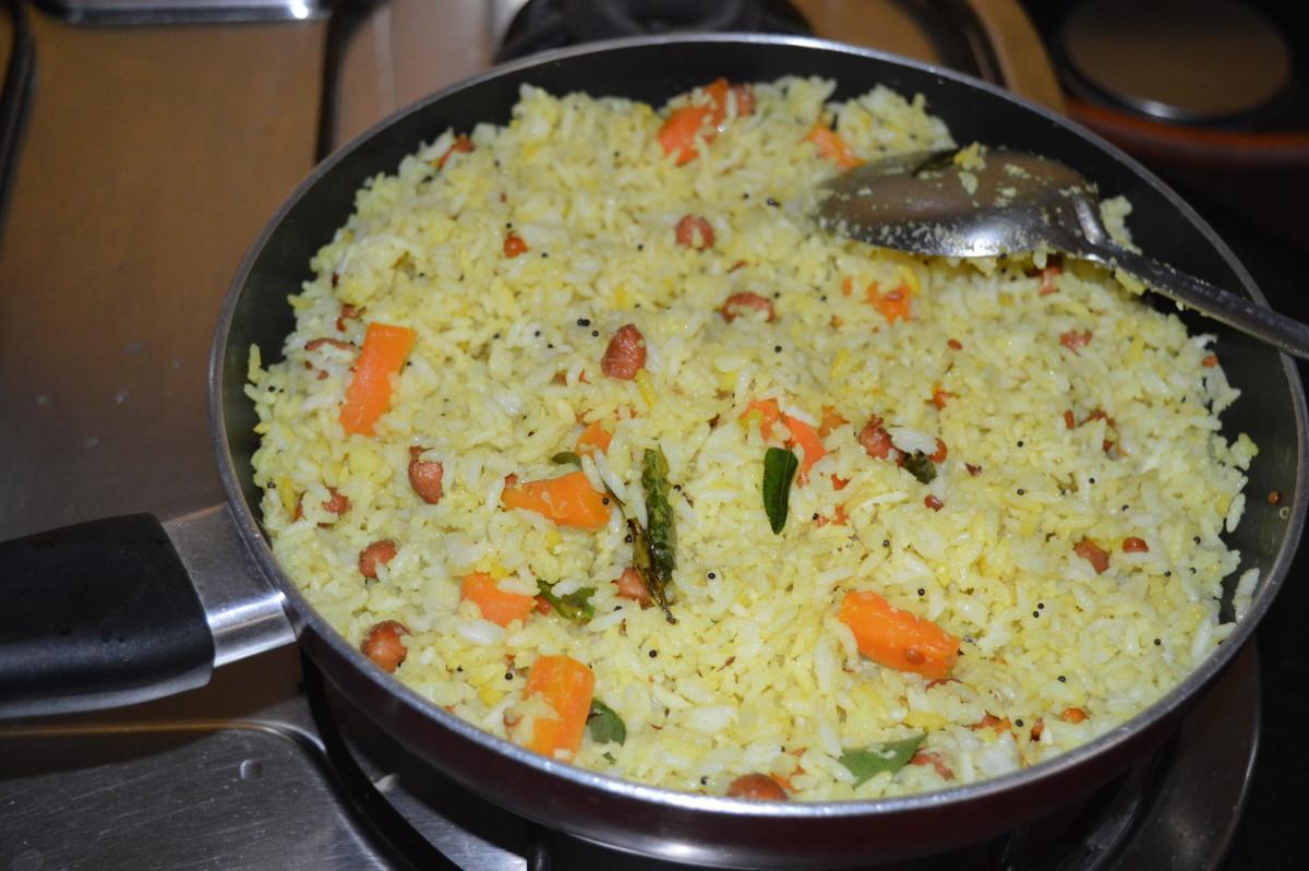 lemon rice with carrots