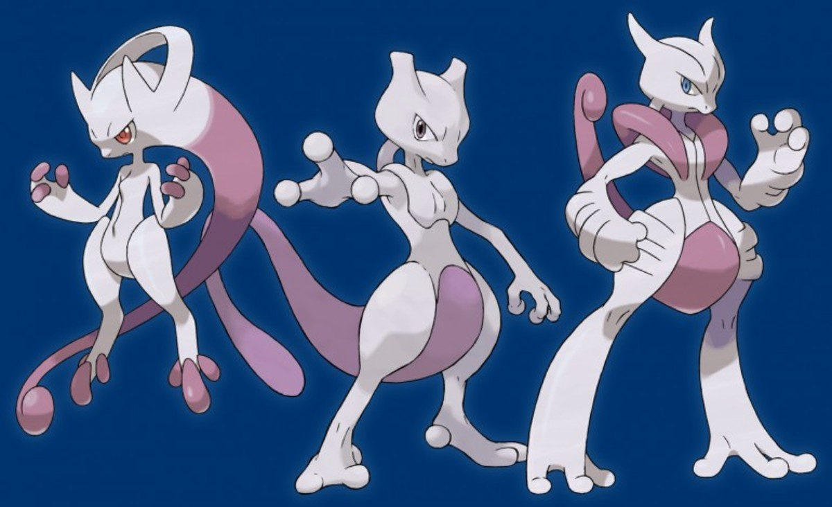 Mewtwo X, Mewtwo, and Mewtwo Y