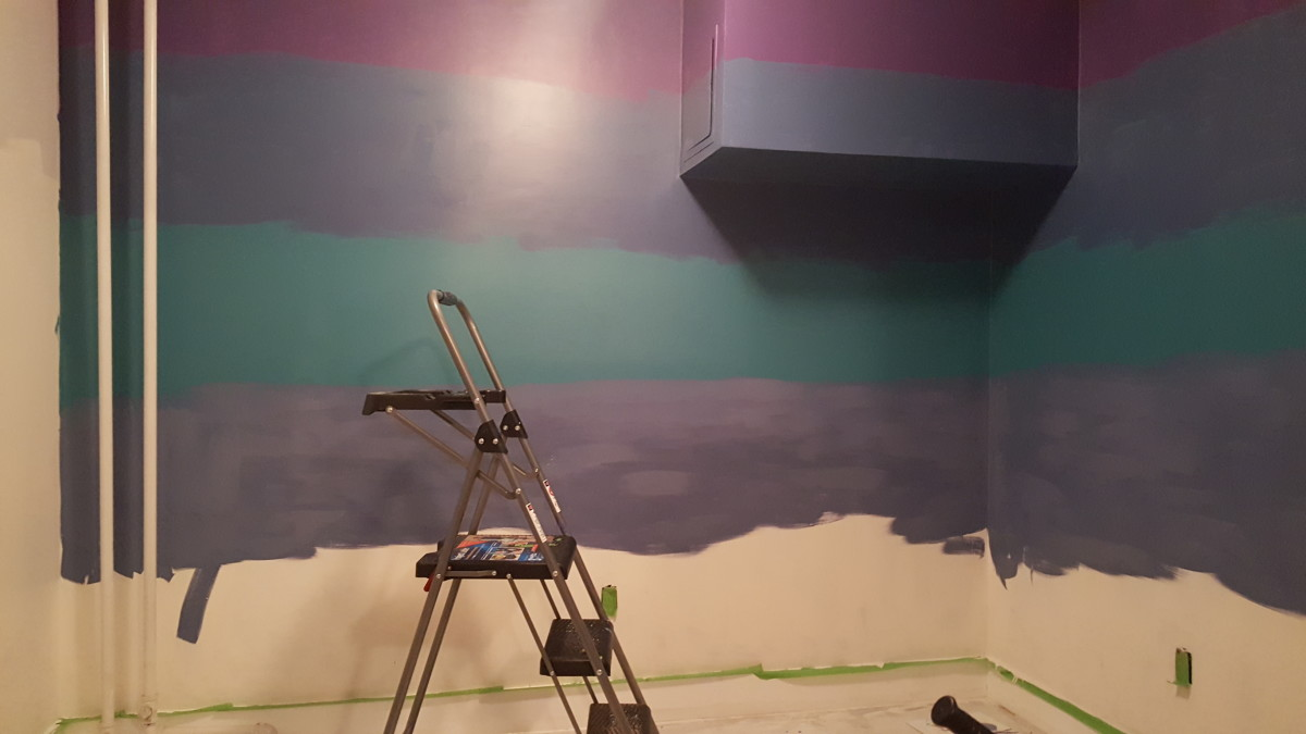 how-to-paint-a-tropical-ombre-wall
