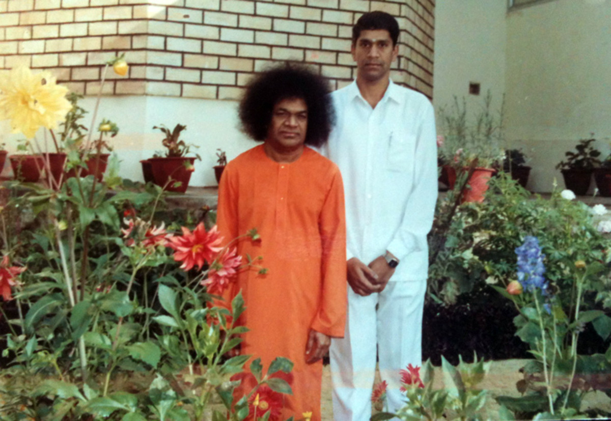 With his dear Swami in Kodaikanal...