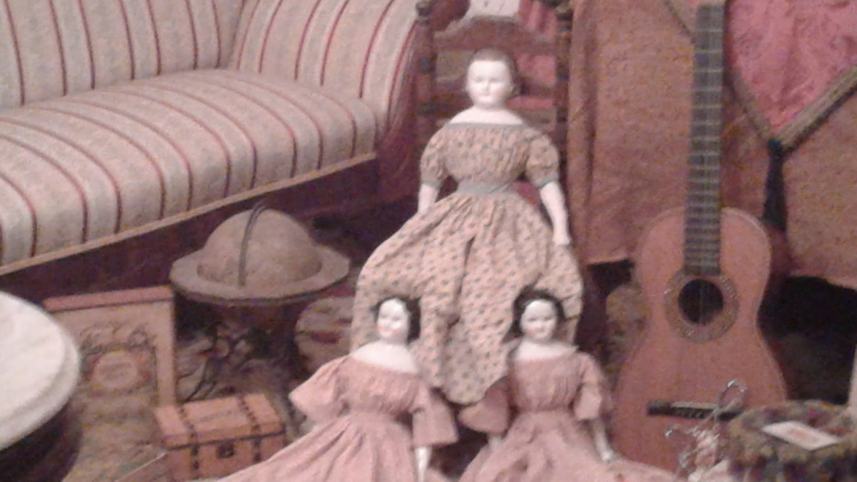 the dolls have done weird things in photos - made faces, turned upside down, disappeared but not here.