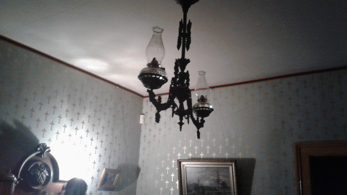 a sinister chandelier