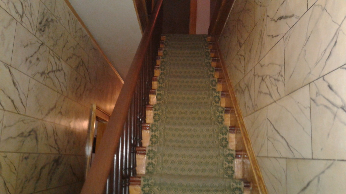 the steep staircase where spirits ascend