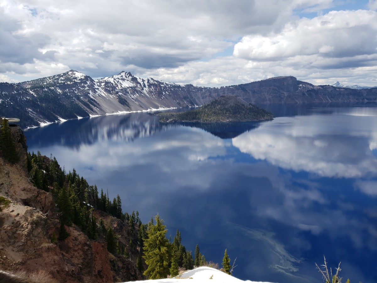 Snow-Fed Crater Lake Was Created Over Seven Thousand Years Ago