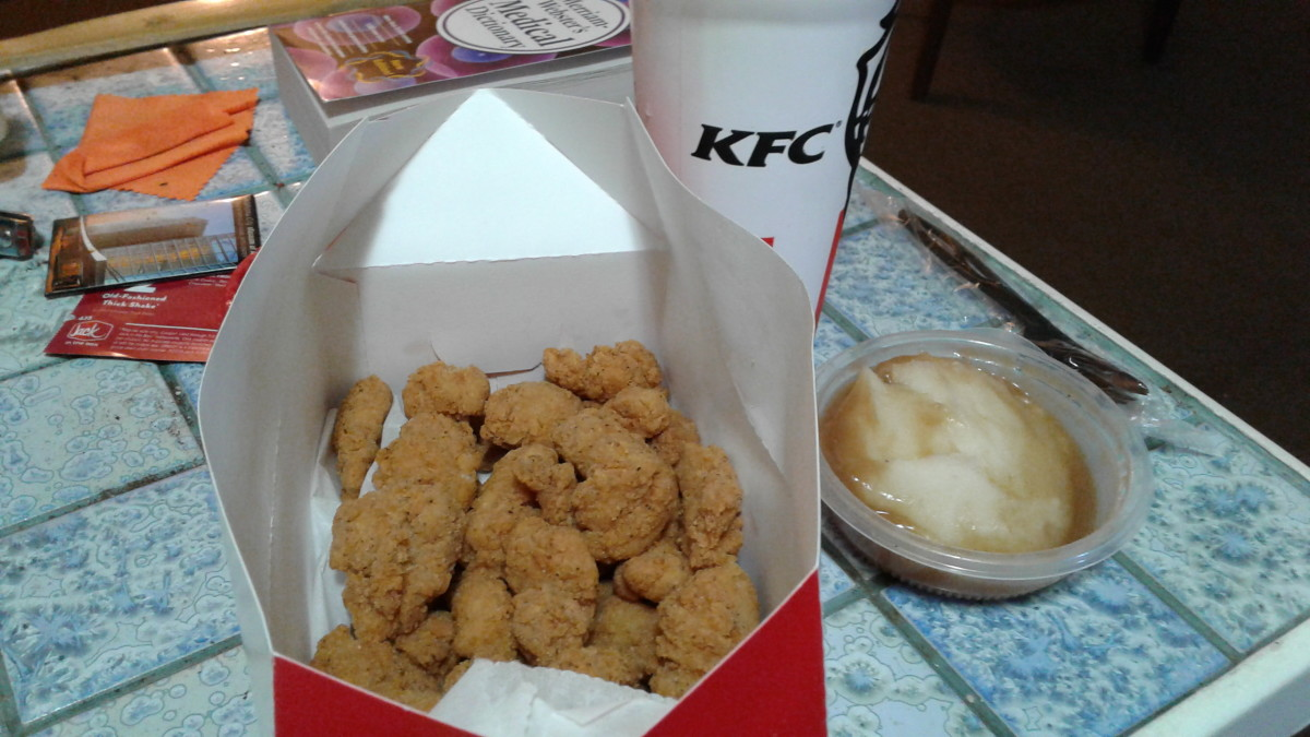 The popcorn chicken was fresh and had a delicious aroma