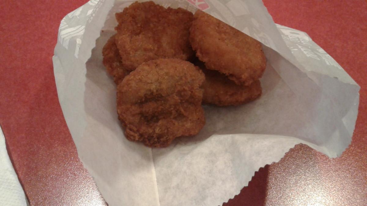Nuggets taste like frozen food supermarket variety