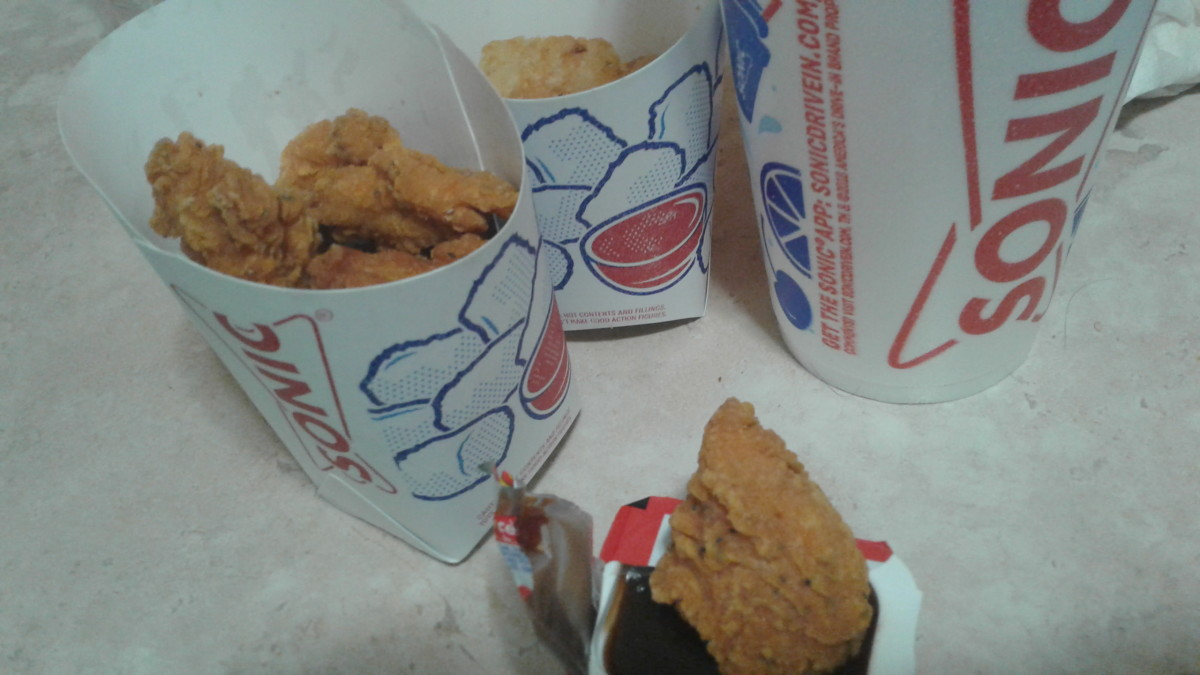 Portions of Sonic's popcorn chicken are plentiful