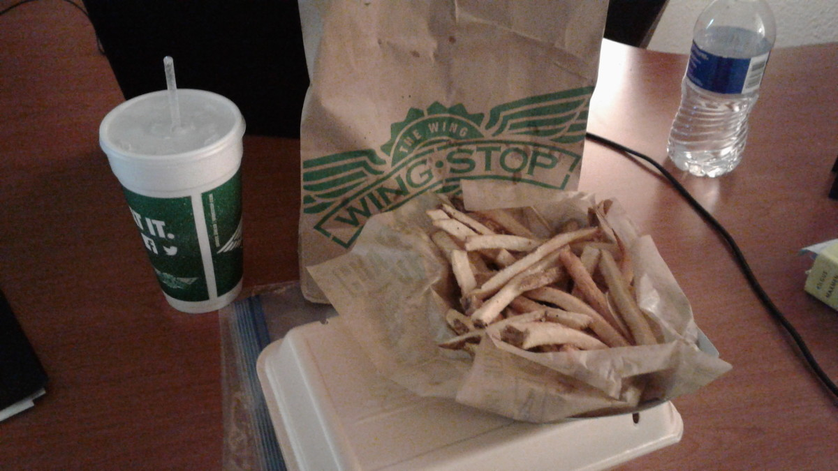 With the Wingstop meal you have your choice of fries or vegies