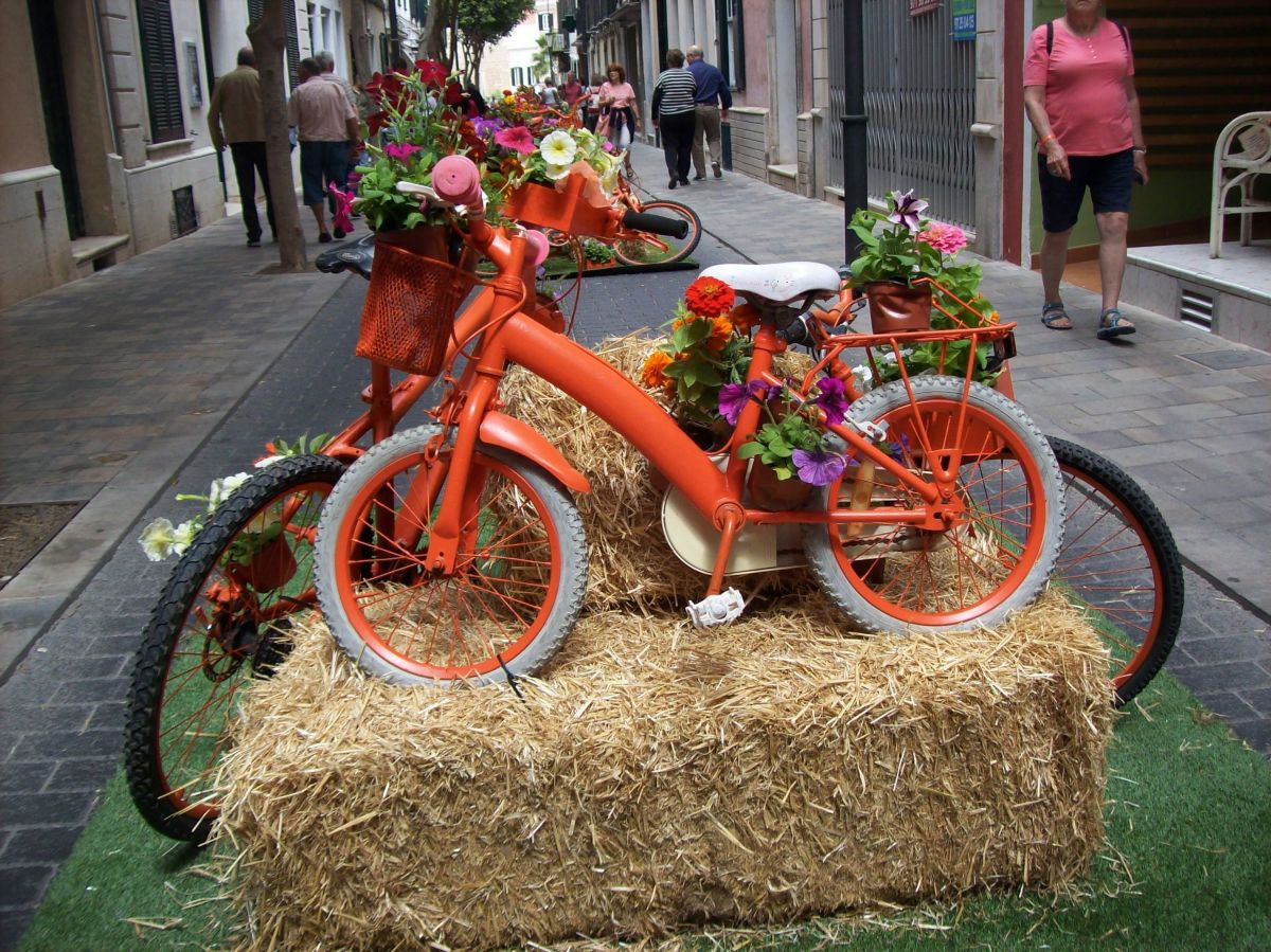 Pained bikes and flowers looked great.