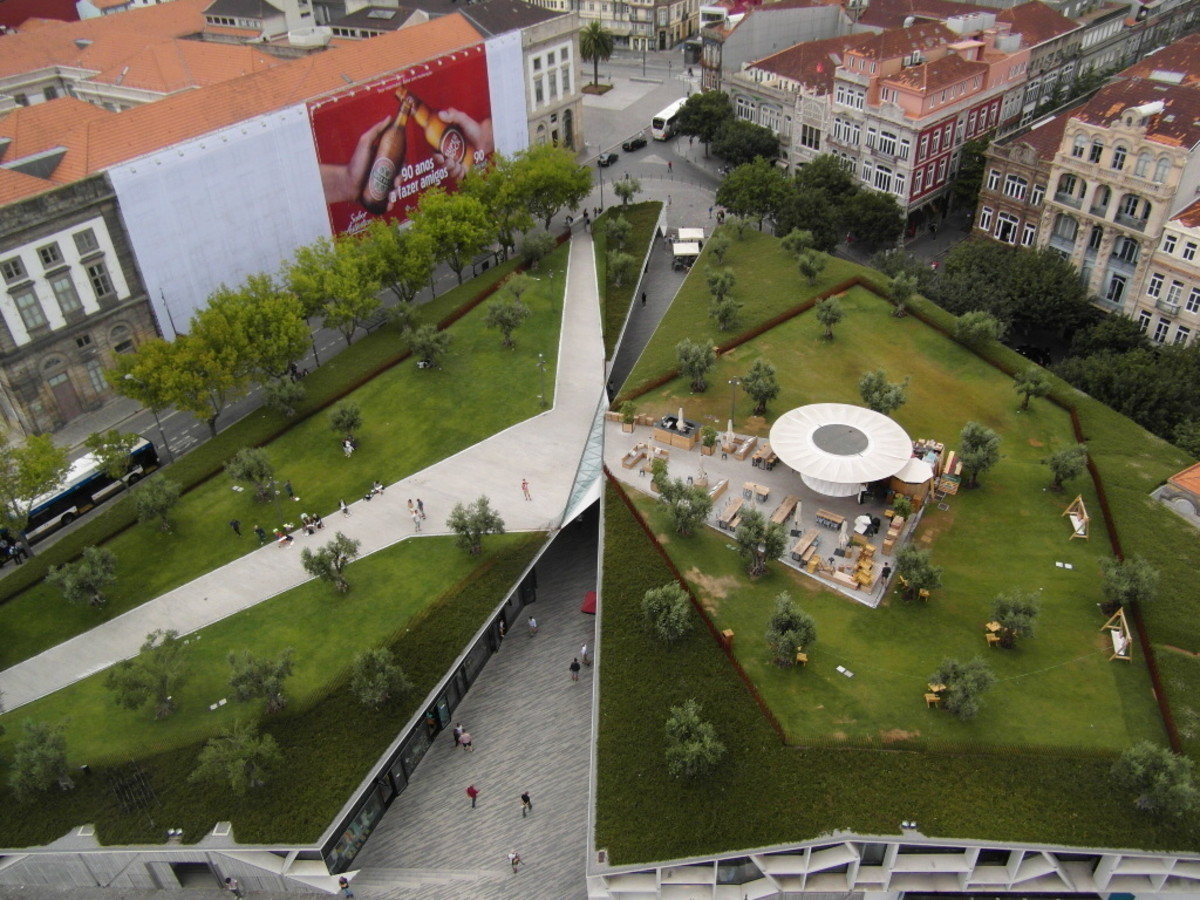 Aerial view of Cordoaria, Porto.